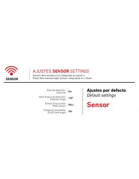 Downlight led empotrable circular regulable con sensor 18W LPANEL18G de Roblan