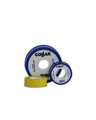 Rollo cinta teflón PTFE 50m X 19mm X 0.10mm de Collak