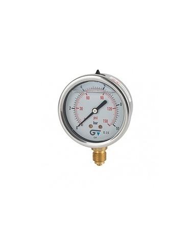 Manómetro con glicerina conexión inferior de 0 a 4 bar de Genebre
