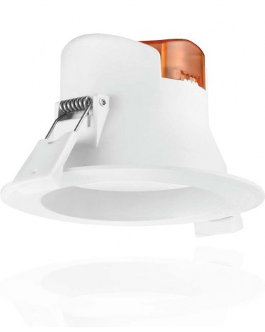 Downlight led empotrable Roblan blanco de 7W . Luz cálida ALLINR2435BC