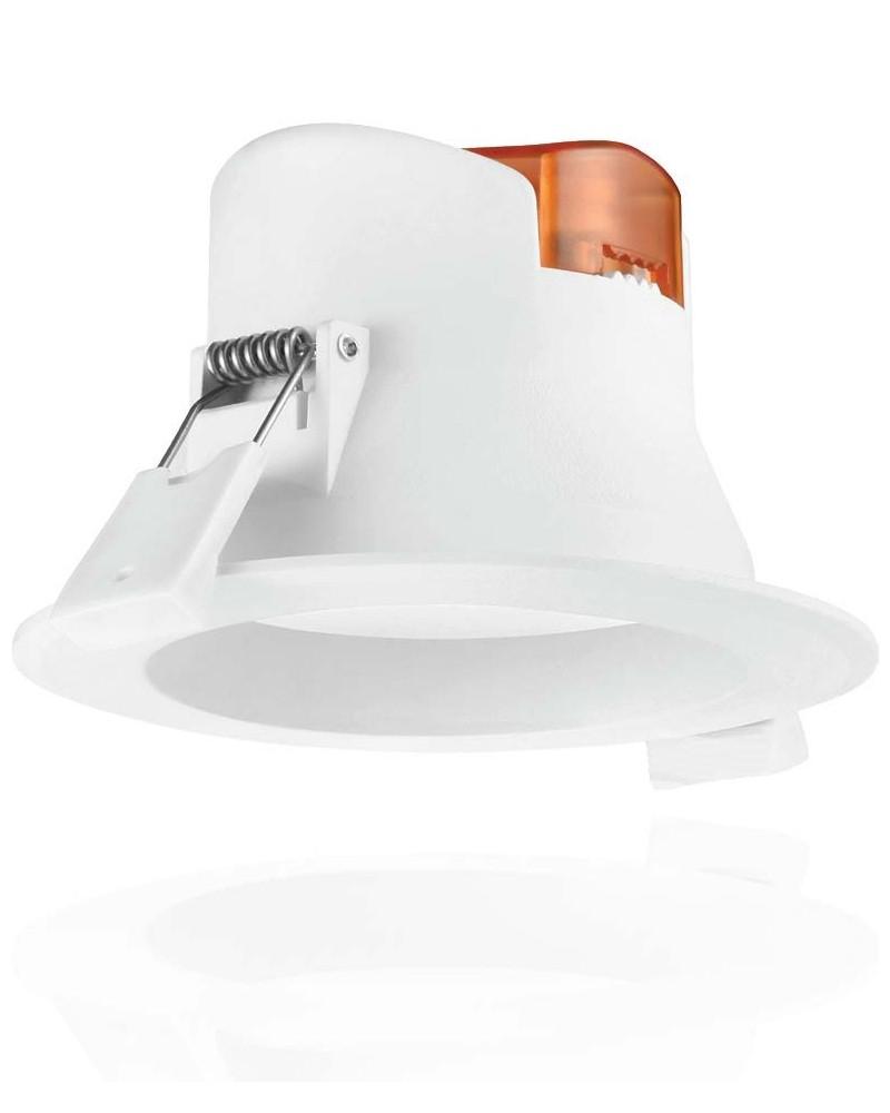 Downlight led empotrable Roblan blanco de 7W . Luz cálida ALLINR2435BC