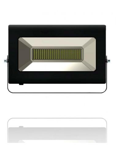 Proyector Led rectangular extraplano para exterior de 150W. Luz FRIA. Marca Roblan RMHL150B