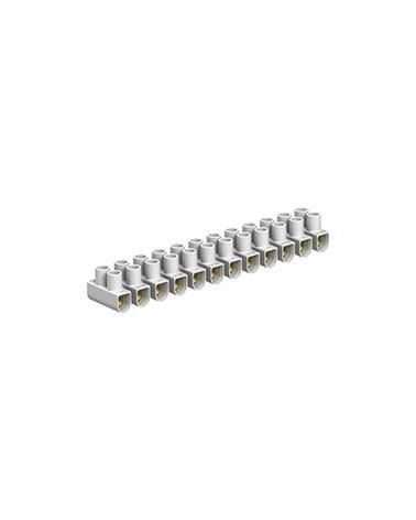Regleta de conexión 4 mm blanca