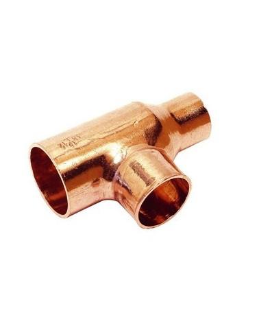 Te reducida de cobre 12-15-12 para soldar.Conexiones Hembra de Comap-Sudo
