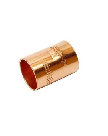 Manguito unión de cobre de 12 para soldar Hembra Hembra de Comap-Sudo