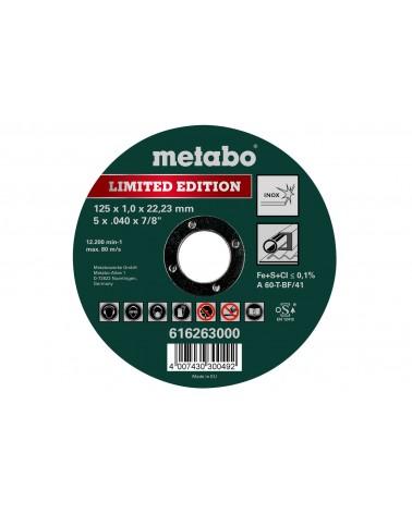Disco de corte inox 125x1.0x22.23 de Metabo
