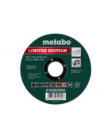 Disco de corte inox 115x1.0x22.23 de Metabo