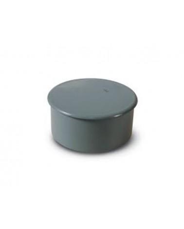 Tapón ciego de PVC gris...