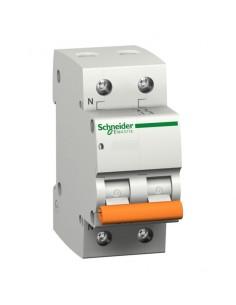 Interruptor automático para vivienda I+N de Schneider