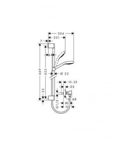 Set de ducha termostática Croma Select E vario Ecostat Comfort 27081400 de Hansgrohe
