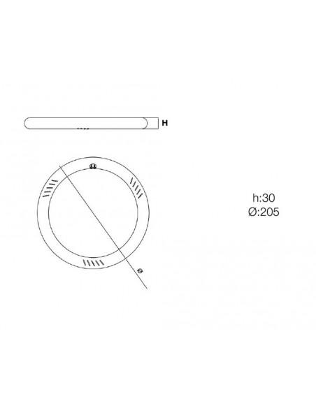 Fluorescente Led circular T9 6500K de Roblan