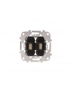 Toma cargador USB 2x2A/5V 8185.3 de Niessen
