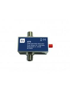 ATS atenuador variable con conector F de Ekselans